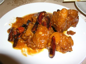 General Tso's chicken in Taipei (a poor picture, sorry! It doesn't do the dish justice)